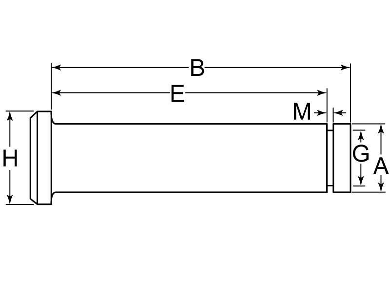 Drive Lok Groove U Pin Zinc 5//16 x 1 ½ Pack of 250